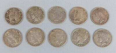 1922 Morgan Sterling Silver Coins of 10