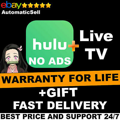 Hulu Premium + Live TV + No Ads | Lifetime warranty | FAST DELIVERY