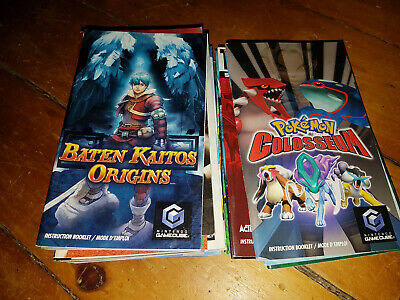 Nintendo Gamecube Manuals Pick n Choose! Complete YOUR Game!