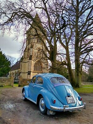 Unrestored 1960 1200cc Gulf Blue VW Volkswagen Beetle 58000 miles from new