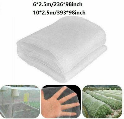 10M Garden Crops Plant White Protect Netting Mesh Net for Bird Insect Animal new