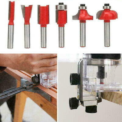"""6pcs Woodworking Milling Cutter 1/4"""" Shank Router Bit End Mill Cutter Set With"""