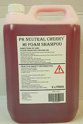 5L CHERRY BLAST HI FOAM SNOW FOAM SHAMPOO 5 Litre Drum Car Vehicle Wash