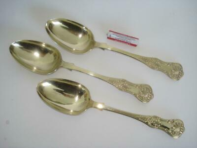 Three Large English Antique Kings Pattern Serving Spoons Silverplate W Page 1896