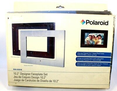 "Two x Polaroid AAA-01031B 10.2"" Designer Faceplate Set"