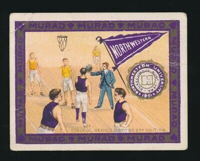1910 T51 Murad COLLEGE SERIES (26-50 2nd Ed.) Northwestern *1st BASKETBALL Card*