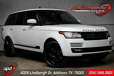 2014 Land Rover Range Rover Supercharged White on Black, Clean Carfax, $112k MSRP, LOADED, Vossen Rims. WE FINANCE!