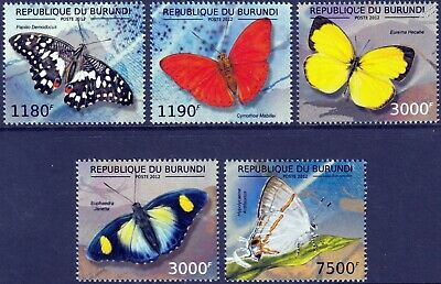 THE BUTTERFLIES OF AFRICA Butterfly Insect Stamp Set #1 (2012 Burundi)