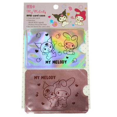 My Melody & Kuromi Iridescent Credit Card Sleeve/case Protector 2-Pc Set RFID