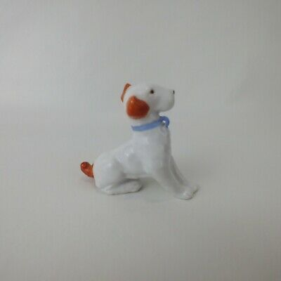 Vintage Jack Russell? Dog Pup Ceramic Porcelain Figurine Collectible Germany