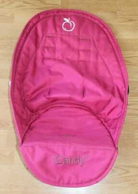 Genuine Icandy Peach Berry Bon Bon Deep Pink Supersoft Luxury Seat Liner Ex Con