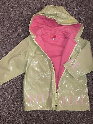 Elle Raincoat Age 4 Lime Green And Pink