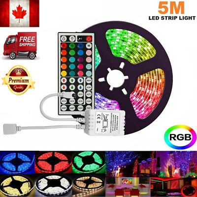 New  RGB Waterproof LED Strip Light 5050  Mood Kitchen Lighting With Remote CA