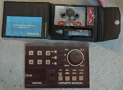 RAREVintage 1980's VOLVO factory TAPE DECK CLEANER & Service BOXED w/radio guide