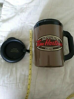 RED Tim Hortons coffee mug Belfast Scotland Espresso Travel GLASGOW