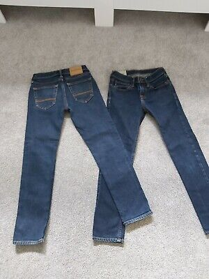 2 x Abercrombie & Fitch Boys Jeans Age 10 - Classic Straight & Slim Straight