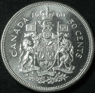 1960 Canada Silver Fifty Cent Coin