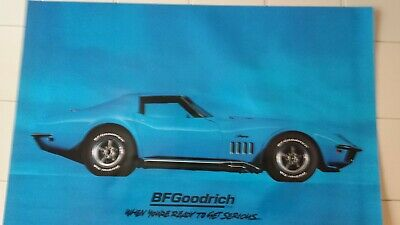 Bf Goodrich Sign Original 1969 Corvette Poster Gas Oil