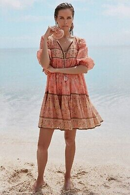 NWT Spell & The Gypsy Collective Seashell Boho Mini Dress (Medium)