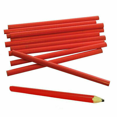 12 X Carpenters Pencils Joiners Woodwork Builders Soft Lead Wood Marking