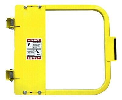 "EdgeHalt Ladder Safety Gate Yellow, OSHA 34.75"" - 38.5"" Wide"