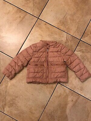 Next Girls Dusky Pink Jacket Age 3 Years Vgc