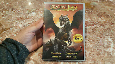 Dragonheart: 4-movie Collection [DVD] Set. Free shipping.