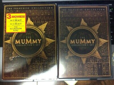 USED DVD The Mummy Collectors Set (3-Disc Set) PRE-OWNED w/ Slipcover