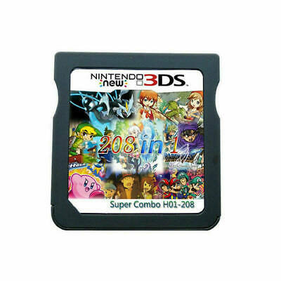 208 in 1 Games Card Cartridge Multicart For 2DS 3DS DS NDS NDSL NDSi US Game