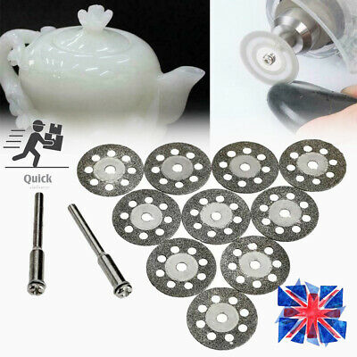 10x Diamond Cutting Off Disc Saw Blades Grinding Wheel for Dremel Rotary Kits