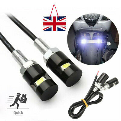 2x Number Plate Light Screw Bolt Bulbs Universal For Car Motorcycle 12V LED SMD