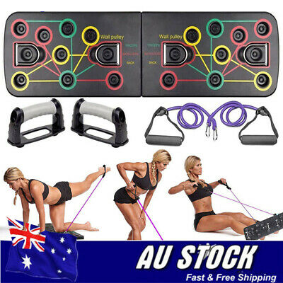 13 in1 Push Up Board Yoga Bands Fitness Workout Train Gym Exercise Pushup Stands