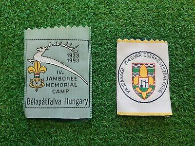 in445 LOT DE 2 INSIGNES SCOUT MAGYAR HONGRIE HUNGARY JAMBOREE SCOUTING BADGE