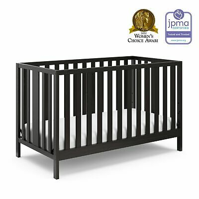 Baby Crib to Toddler Bed 4 in 1 Convertible Child Sleeper Daybed Wood Chocolate