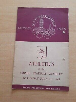 1948 London Olympic Games Athletics Programme(31 July 1948) With Ticket