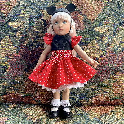 7.5 KISH Riley's World Friend TULAH DOLL in Smocked MICKEY MOUSE Embossed Outfit