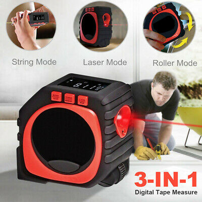 3-in-1 Digital Tape Laser Tool Measure String Mode / Sonic Mode / Roller Mode UK
