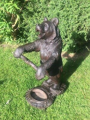 Large Carved Antique Black Forest Bear style of Christian Fletscher 19thC Briez