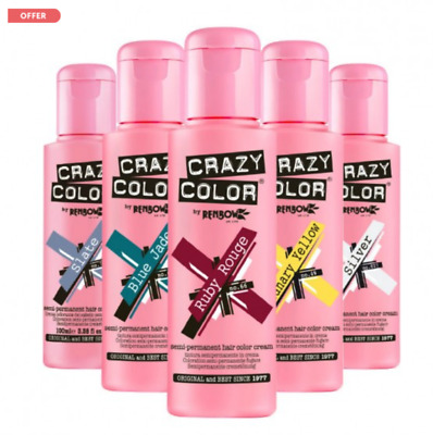 Crazy Color Hair Dye Semi Permanent Colour 100 ml **inc P&P
