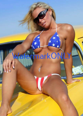 "SUPER ULTRA HOT Car Babe & '57 Chevy ""Pin-UP"" PHOTO! #(77b) CROP"