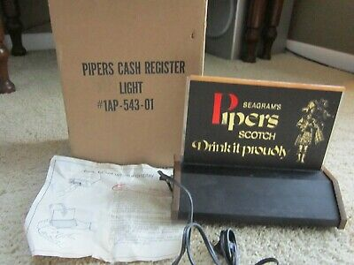 Vtg Seagram's 100 Pipers From Scotland Scotch Back Bar Light New Old Stock
