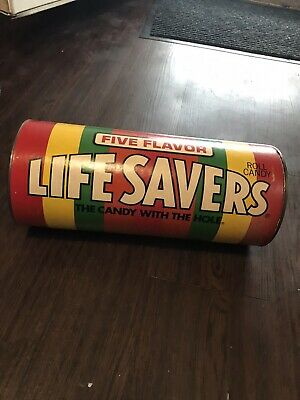 Vintage 1970's Five Flavor Life Savers Candy Advertising Coin Piggy Bank