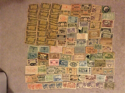 Large lot of foreign currency German and Austria Heller notgeld