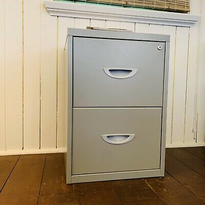 Filing Cabinet 2 Drawer Unit Grey
