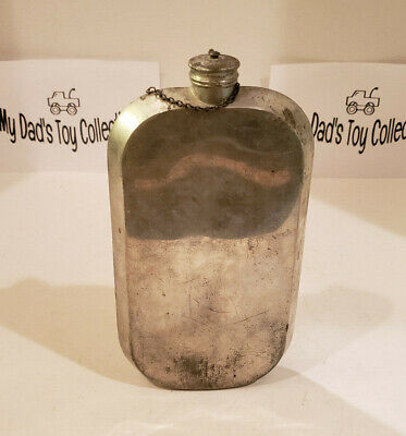 Vintage Pewter Abercrombie & Fitch 24Oz Flask Made In England
