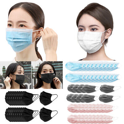 10/20/30Pcs Disposable Face Mask 3-Ply Earloop Mouth Cover Breathable Anti-Dust