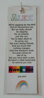 Laminated Bookmark With Poem - Children - Awesome During Lockdown - Star Charm