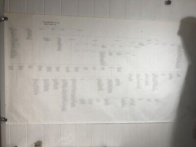 "Genealogy Chart George Belcher 1760 Mary Furgate Family Tree Poster 36"" X 71"""