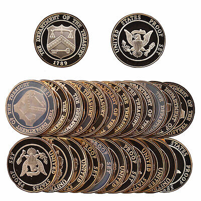 1982 Proof Roll 25 Brass Mint Tokens From US Mint Proof Sets