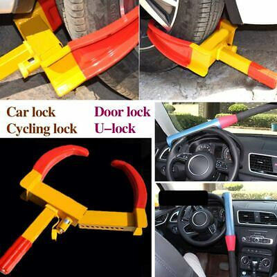 Wheel Car Lock Clamp Boot Tire Claw Trailer Truck Anti-Theft Towing Safety Lock